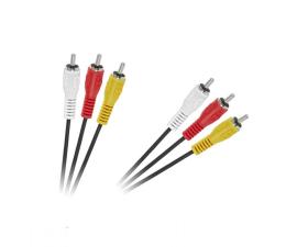 Kabel CABLETECH 3RCA-3RCA 1,8m