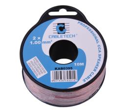Kabel CABLETECH Kabel głośnikowy CCA 1.0mm 10 M