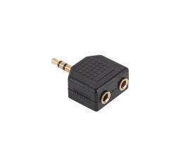 Adapter CABLETECH Złącze Jack 3.5/2x3.5 złote NH552