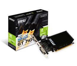 Karta graficzna NVIDIA MSI GeForce GT710 1GB DDR3
