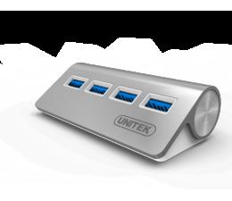 Hub USB Unitek Aluminiowy Hub 4x USB 3.0