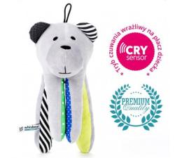 Zabawka dla małych dzieci Whisbear Szumiący Miś CRYsensor cytryna