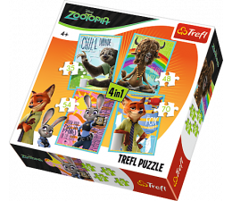 Puzzle dla dzieci Trefl Disney 4w1 Portrety