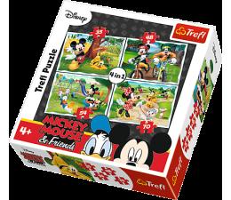 Puzzle dla dzieci Trefl  4w1 Zabawy w parku Postaci Disney