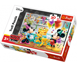 Puzzle dla dzieci Trefl Tort urodzinowy Postaci Disney