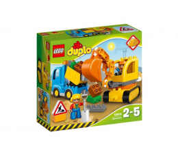 Klocki LEGO® LEGO DUPLO Ciężarówka i koparka gąsienicowa