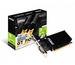 Karta graficzna NVIDIA MSI GeForce GT 710 Low Profile 2GB DDR3
