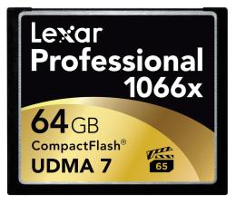 Karta pamięci CF Lexar 64GB 1066x Compact Flash Professional
