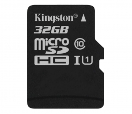 Karta pamięci microSD Kingston 32GB microSDHC Class10 +czytnik USB +adapter SDHC
