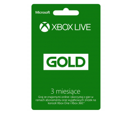 Abonament/PrePaid do konsoli Microsoft Abonament Xbox Live GOLD 3 miesiące (kod)