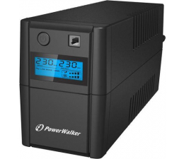 Zasilacz awaryjny (UPS) Power Walker VI 650 SE (650VA/360W, 2xSchuko, AVR, USB, LCD)