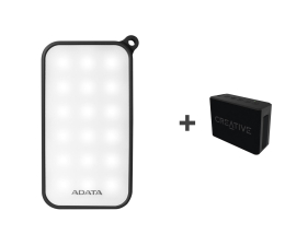 ADATA Power Bank D8000 LED + Głośnik Muvo 1C (AD8000L-5V-CBK + 51MF8251AA000)