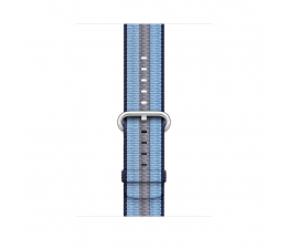 Apple  42mm Woven Nylon Midnight Blue Stripe (MQVU2ZM/A)