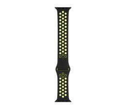 Apple Pasek sportowy Nike czarny/zielonożółty 40mm (MTMN2ZM/A)