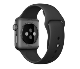 Apple Silikonowy do Apple Watch 38 mm czarno-stalowy (MJ4F2ZM/A)