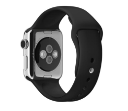 Apple Silikonowy do Apple Watch 38 mm czarno-szary (MJ4G2ZM/A)