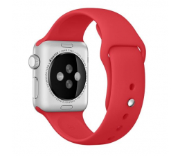 Apple Silikonowy do Apple Watch 38 mm czerwony (MLD82ZM/A)
