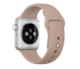 Apple Silikonowy do Apple Watch 38 mm orzechowy (MLDD2ZM/A)