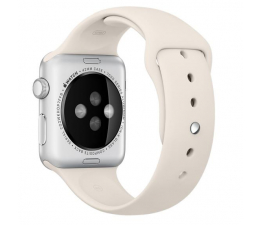 Apple Silikonowy do Apple Watch 42 mm alabastrowy (MLL12ZM/A)