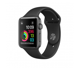 Apple Watch 38/Space Grey Aluminium/Black Sport Band (MP022MP/A)