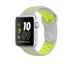 Apple Watch Nike+ 38/Silver Aluminium/Flat Silver/Volt (MNYP2MP/A)