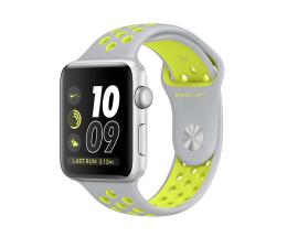 Apple Watch Nike+ 42/Silver Aluminium/Flat Silver/Volt (MNYQ2MP/A)