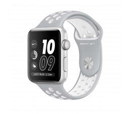 Apple Watch Nike+ 42/SilverAluminium/FlatSilver/White (MNNT2MP/A)
