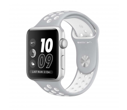 Apple Watch Nike+38/SilverAluminium/FlatSilver/White (MNNQ2MP/A)