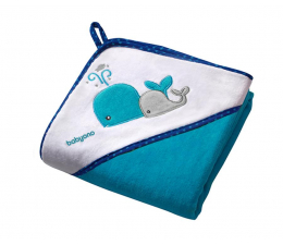 BabyOno Okrycie Kąpielowe Ręcznik +Kapturek 100x100 Błękit (5901435405031 Welur)