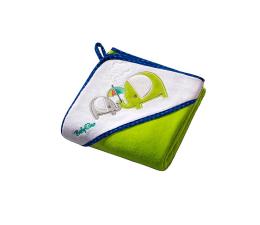BabyOno Okrycie Kąpielowe Ręcznik Z Kaptur 100x100 Zieleń (5901435405055 Welur)