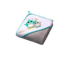 BabyOno Okrycie Kąpielowe Ręcznik Z Kapturem 100x100 Szary (5901435405062 Welur)