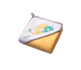 BabyOno Okrycie Kąpielowe Ręcznik Z Kapturem 100x100 Żółty (5901435405048 Welur)