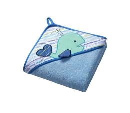 BabyOno Okrycie Kąpielowe Ręcznik Z Kapturem 76x76 Błękit (5901435404881 Frotte)