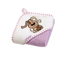 BabyOno Okrycie Kapielowe Ręcznik Z Kapturem 76x76 Fiolet (5901435407707 Frotte)