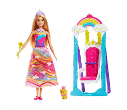Barbie Dreamtopia Huśtawka Księżniczki z lalką (FJD06)