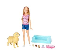 Barbie Narodziny piesków Lalka z pieskami blondynka (FBN17 FDD43)