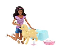 Barbie Narodziny piesków Lalka z pieskami brunetka  (FBN17 FDD44)