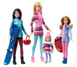 Barbie Siostry Zimowe lalki Zestaw prezentowy (FDR56)