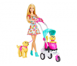 Barbie Spacer z pieskami (CNB21)