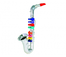 Bontempi PLAY - Saksofon Srebrny 8 klawiszy 42 CM  (32 4331)