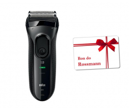 Braun Series 3 ProSkin 3000S +Bon Rossmann 50zł  (301272+484160)
