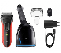 Braun Series 3 ProSkin 3050cc Clean&Charge (3050CC Red)