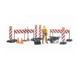 Bruder Akcesoria do robót drogowych z figurką pracownika (BR-62000)