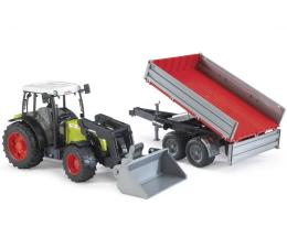 Bruder Traktor Claas Nectis 267F z ładowarką i przyczepą (02112)