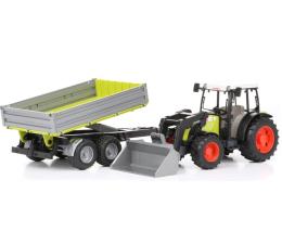 Bruder Traktor Claas Nectis 267F z ładowarką i przyczepą (BR-01998)