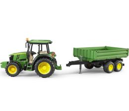 Bruder Traktor John Deere 5115M z przyczepą wywrotką  (02108)