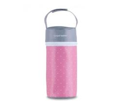 Canpol Termoopakowanie Na Butelki Kropki Na Różowym (5903407690032 Szaro-Różowe)