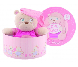 Chicco Pluszowy Miś różowy (8058664027057)