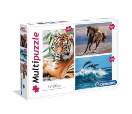 Clementoni Puzzle Animals 3x1000 el. (08010)