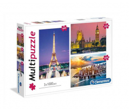 Clementoni Puzzle Cities 3x1000 el. (08009)